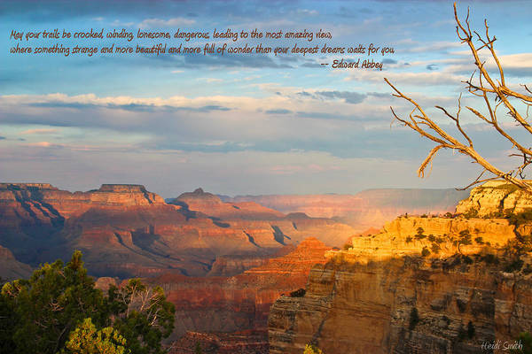 Wall Art - Photograph - Grand Canyon Splendor - With Quote by Heidi Smith