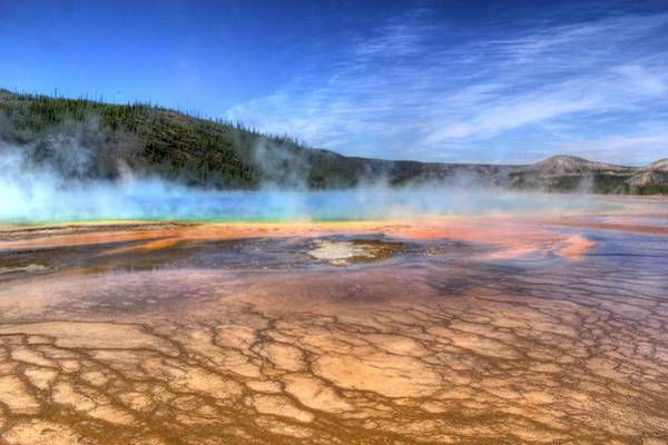 Hot Springs Photograph - Grand Prismatic Spring Yellowstone National Park by Brad Scott
