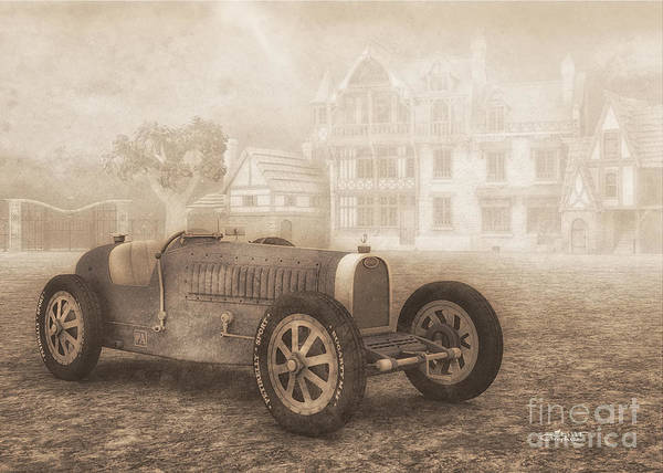 Digital Art - Grand Prix Racing Car 1926 by Jutta Maria Pusl