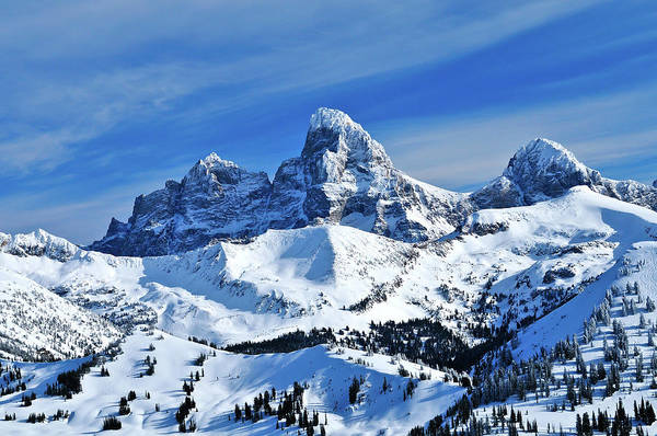 Art Print featuring the photograph Grand Teton Winter by Greg Norrell