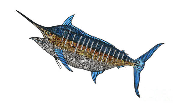 Wall Art - Mixed Media - Grander Marlin by Carol Lynne