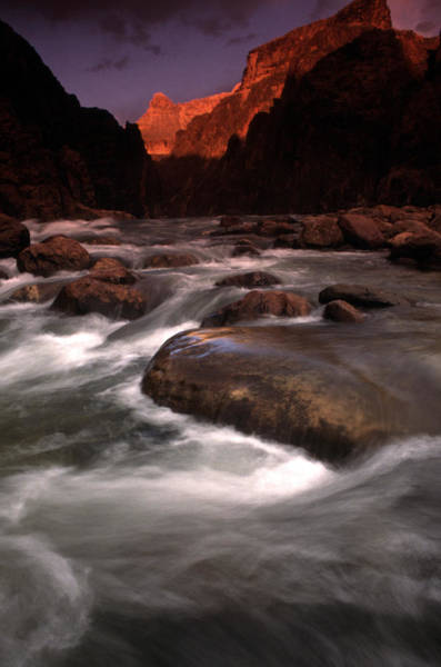 Thompson River Photograph - Granite Falls At Sunset In The Grand by Kate Thompson