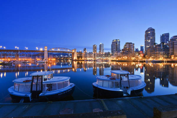 Wall Art - Photograph - Granville Island At Dawn. The Vancouver by Rob Tilley