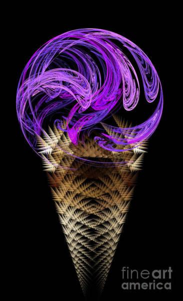 Ice Cream Cones Digital Art - Grape Ice Cream Cone by Andee Design