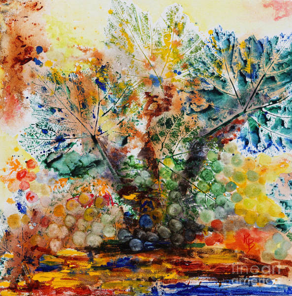 Painting - Grape Tree by Karen Fleschler
