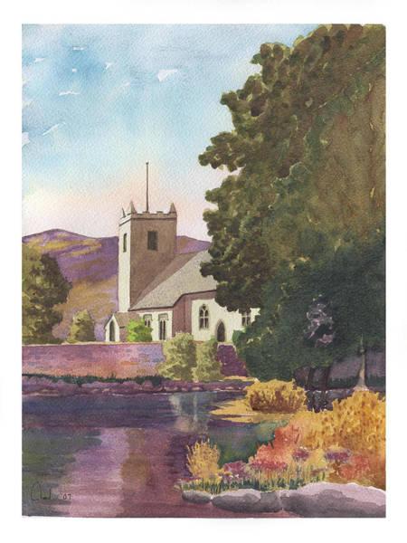 Grasmere Wall Art - Painting - Grasmere Church by Rod Jones