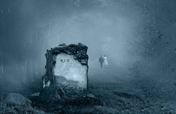 Wall Art - Photograph - Grave In A Forest by Jaroslaw Grudzinski