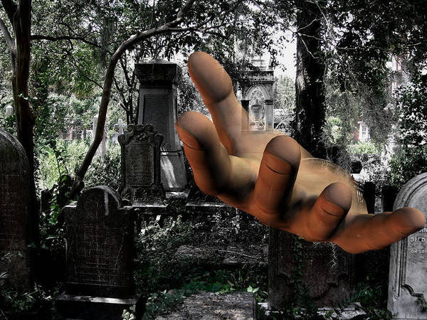 Aira Wall Art - Digital Art - Grave Yard Hand by Tea Aira