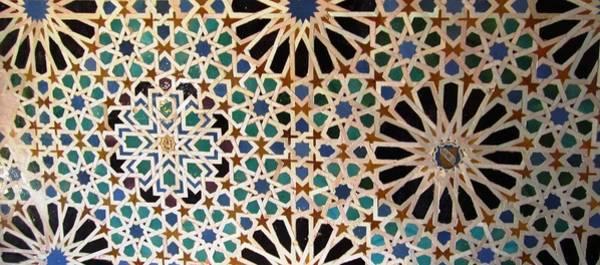 Photograph - Great Ancient Artistic Tilework Design Granada Spain by John Shiron