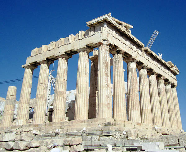 Photograph - Great Artistic Photo Of Ancient Parthenon Columns At Acropolis In Athens Greece by John Shiron