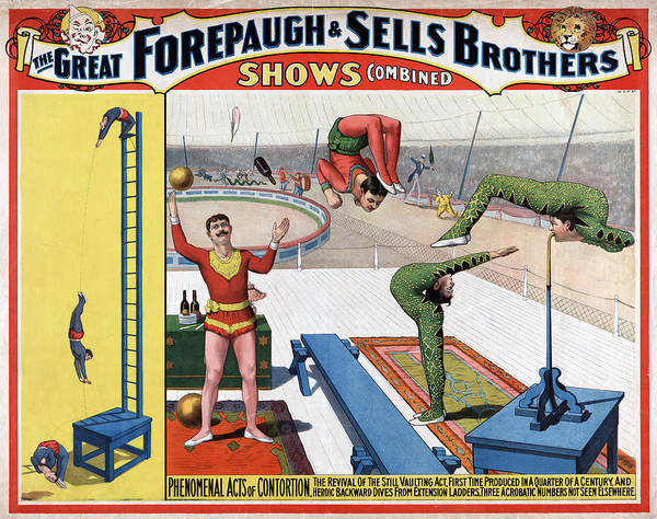 Juggler Photograph - Great Forepaugh & Sells Brothers Shows by Everett