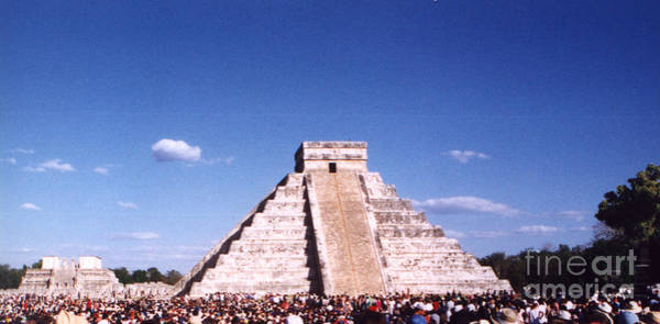 Kukulcan Photograph - Great Pyramid At Chichen Itza Spring Equinox by Alys Caviness-Gober