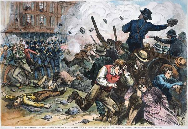 Militiaman Photograph - Great Railroad Strike, 1877 by Granger