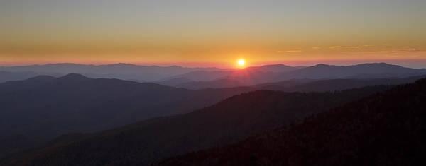 Photograph - Great Smokey Mountains Sunset Panorama by Pierre Leclerc Photography