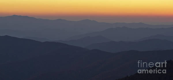 Wall Art - Photograph - Great Smokie Mountains At Sunset by Dustin K Ryan