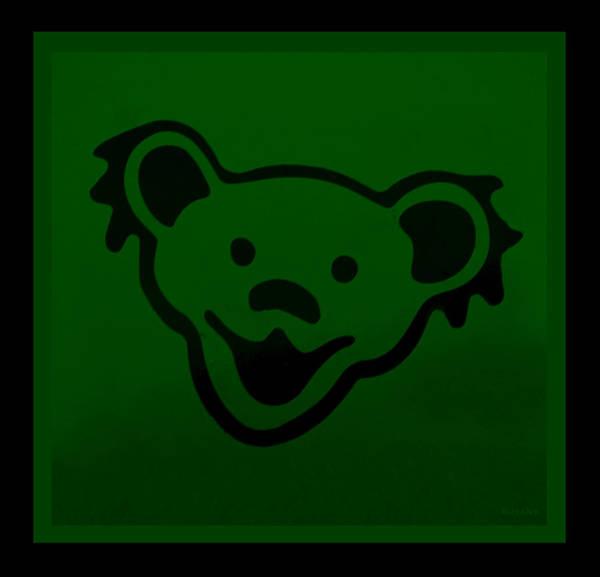 Greatful Dead Photograph - Greatful Dead Dancing Bear In Green by Rob Hans