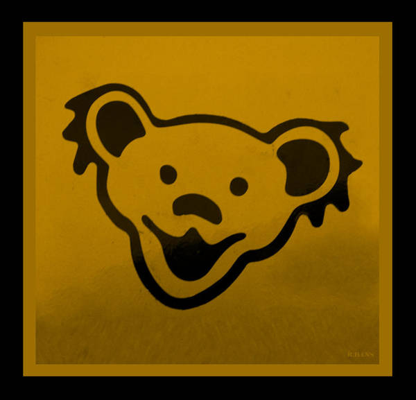 Greatful Dead Photograph - Greatful Dead Dancing Bear In Orange by Rob Hans