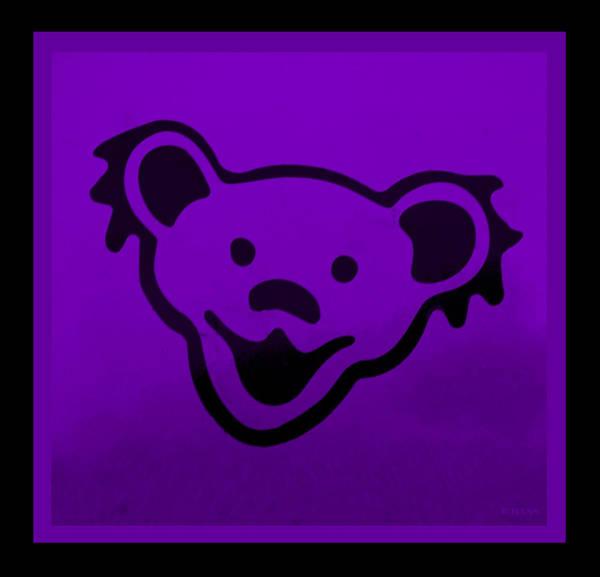 Greatful Dead Photograph - Greatful Dead Dancing Bear In Purple by Rob Hans