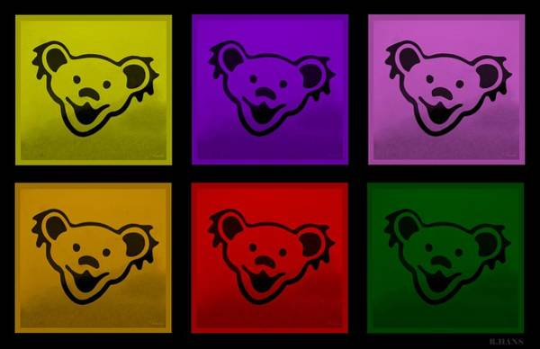 Photograph - Greatful Dead Dancing Bears In Multi Colors by Rob Hans