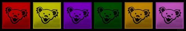 Greatful Dead Photograph - Greatul Dead Dancing Bears In Muti Colors by Rob Hans