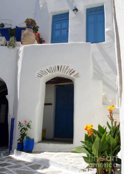 Urn Photograph - Greek Doorway by Jane Rix