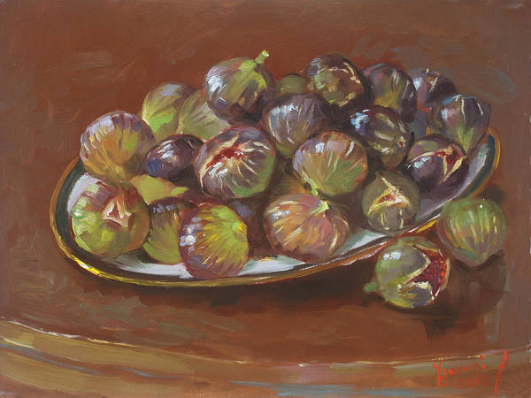 Still-life Painting - Greek Figs by Ylli Haruni