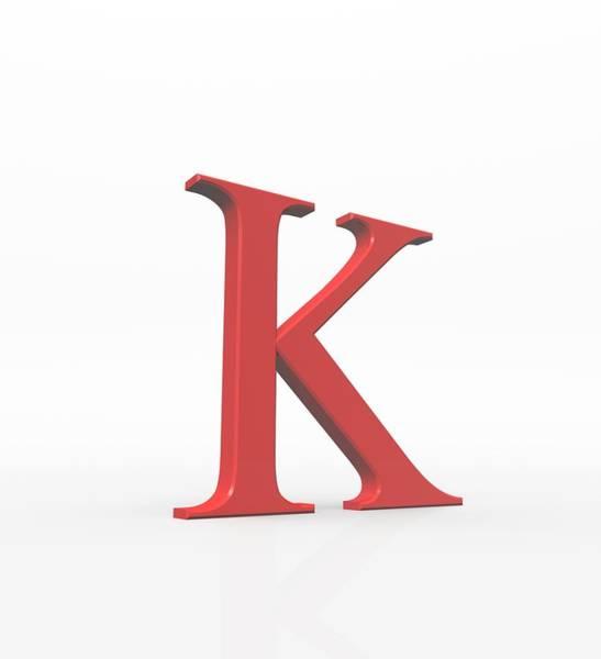 Written Language Photograph - Greek Letter Kappa, Upper Case by David Parker