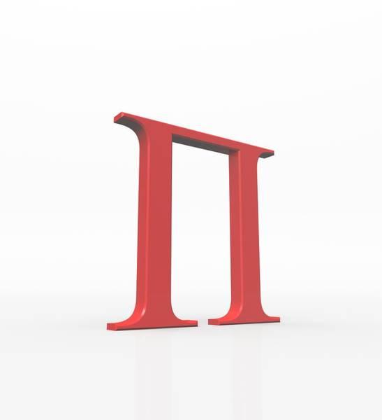 Written Language Photograph - Greek Letter Pi, Upper Case by David Parker