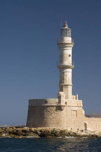Wall Art - Photograph - Greek Lighthouse by Gloria & Richard Maschmeyer