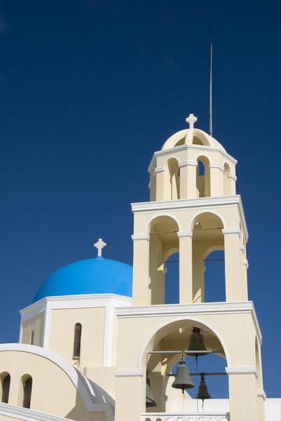 Wall Art - Photograph - Greek Orthodox Bell Tower by Gloria & Richard Maschmeyer