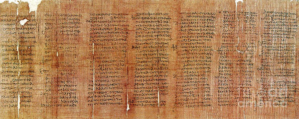 Aspect Wall Art - Photograph - Greek Papyrus Horoscope by Science Source