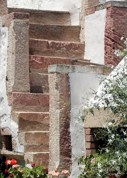 Photograph - Greek Staircase Patmos by Sabrina L Ryan