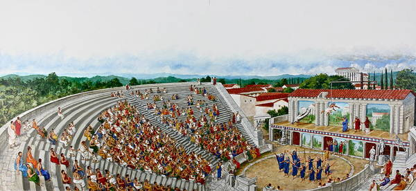 Mixed Media - Greek Theater  by Cliff Spohn