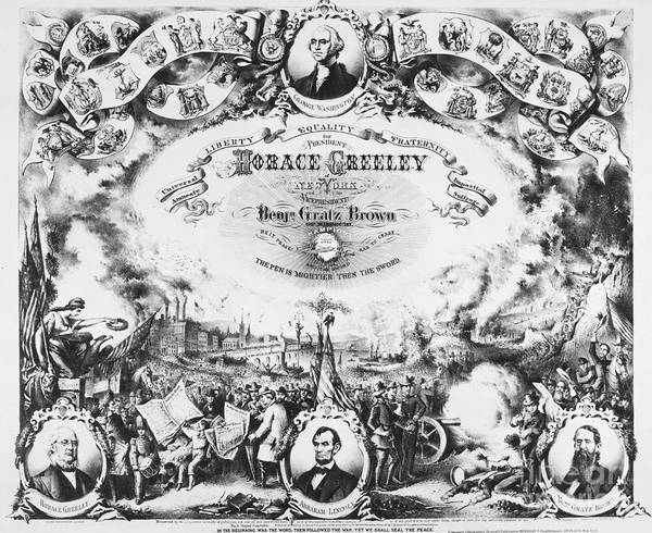 Photograph - Greeley: Election Of 1872 by Granger