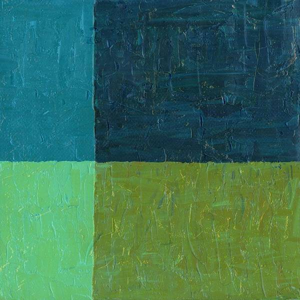 Painting - Green And Blue by Michelle Calkins