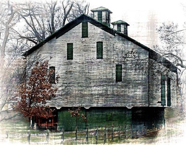 Rockbridge County Photograph - Green And White Barn by Kathy Jennings