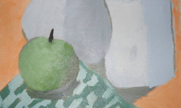 Wall Art - Painting - Green Apple  by Virginia Frias