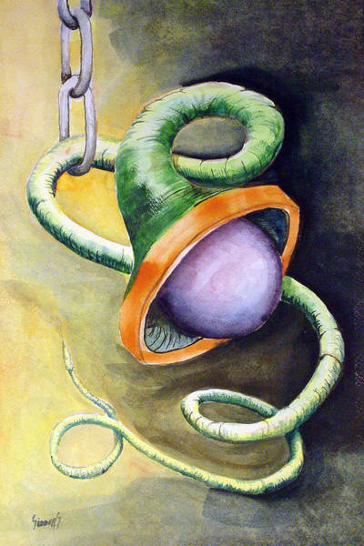 Painting - Green Ball Worm by Sam Sidders
