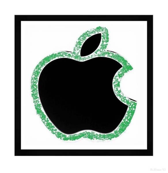 The Mac Wall Art - Photograph - Green  Black Apple by Rob Hans