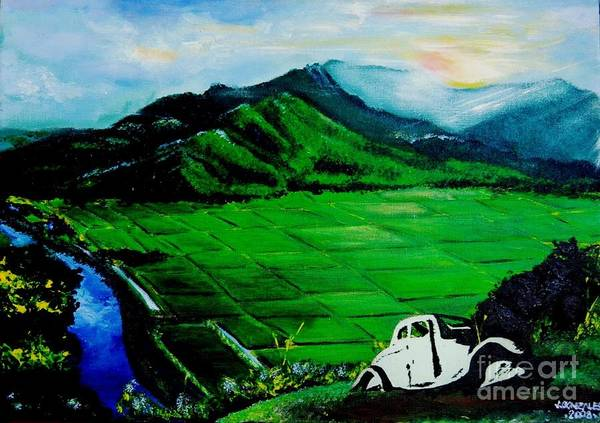 Wall Art - Painting - Green Fields by Jay Anthony Gonzales