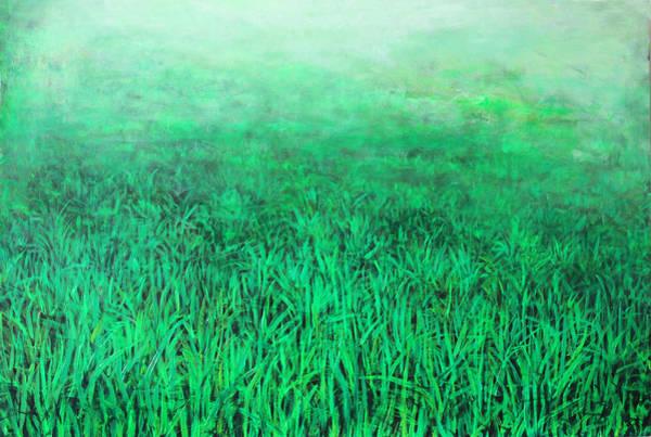 Wall Art - Painting - Green Grass by Lolita Bronzini
