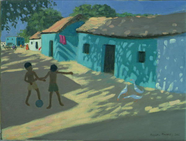 Peacocks Painting - Green House by Andrew Macara