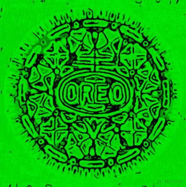 Nabisco Photograph - Green Oreo by Rob Hans