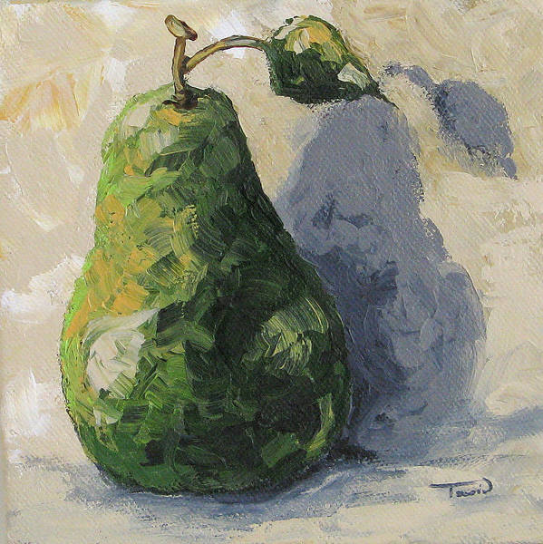 Wall Art - Painting - Green Pear And Shadow by Torrie Smiley