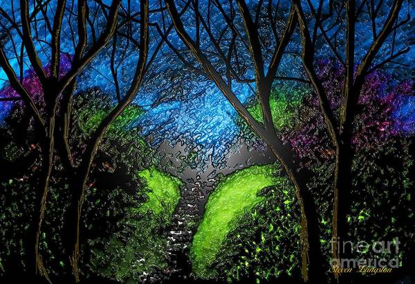 Wall Art - Painting - Green River by Steven Lebron Langston