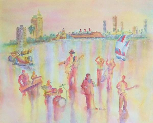 Painting - Gregg Young And The 2nd St Band by Debbie Lewis