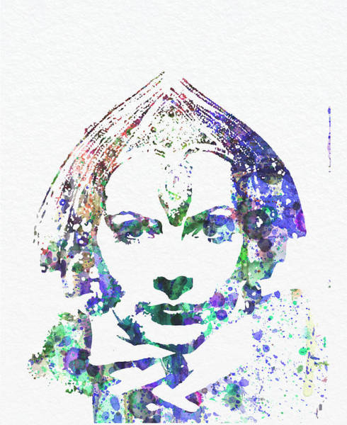 Golden Digital Art - Greta Garbo by Naxart Studio