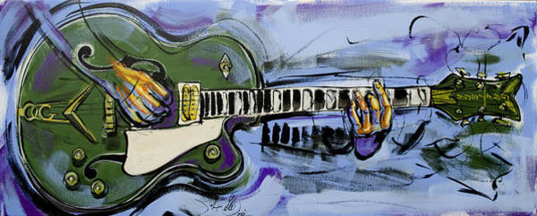Painting - Gretsch Guitar by John Gibbs