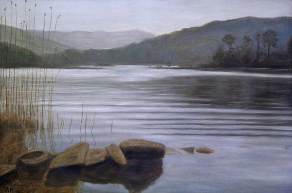 Windermere Painting - Grey Day by Ronald Haber