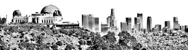 Etched Photograph - Griffith And Los Angeles Etched by Ricky Barnard